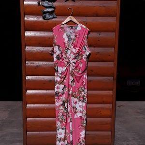 EUC GORGEOUS Coral Floral MAXI DRESS